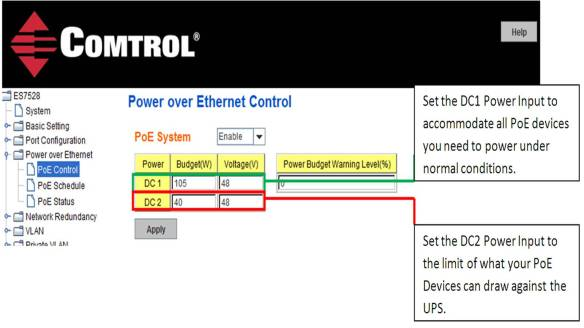 Power over Ethernet Control